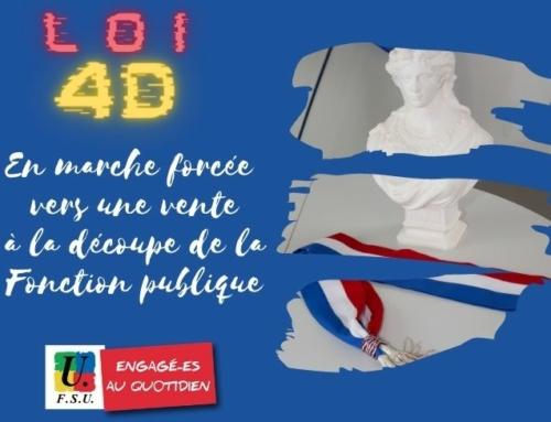 Loi 4D : En marche forcée vers une vente à la découpe de la Fonction publique